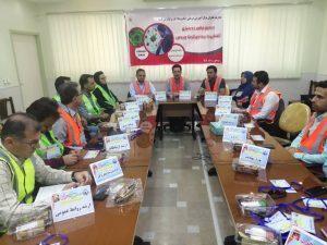 برگزاری مانور دور میزی در مرکز آموزشی درمانی امام رضا (ع)